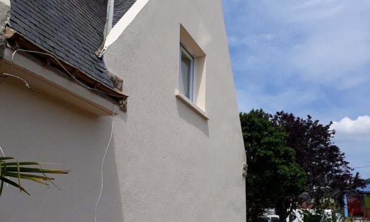 Ravalement façade Hennebont Après